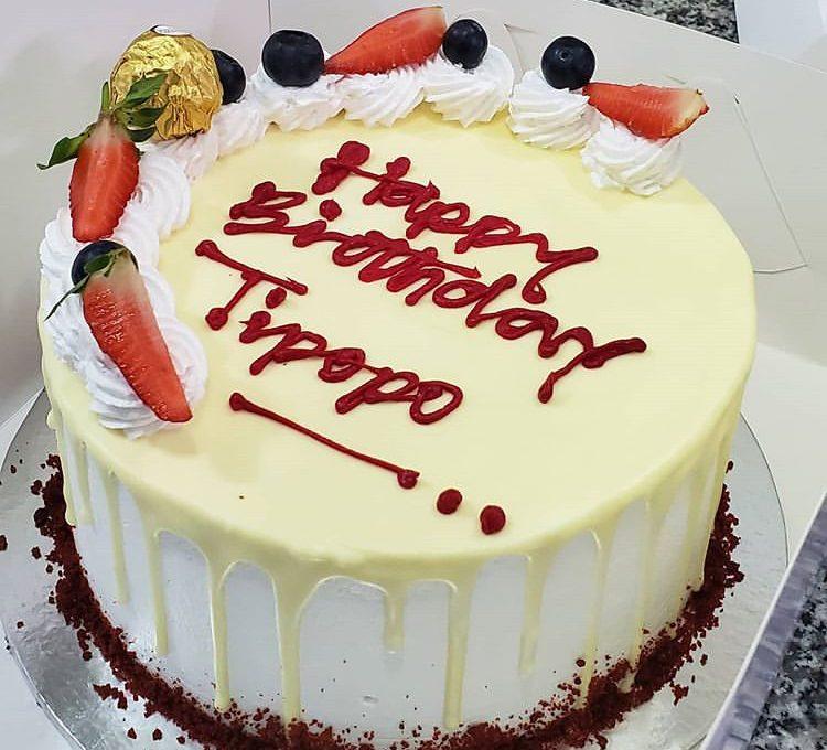 happy tip cake
