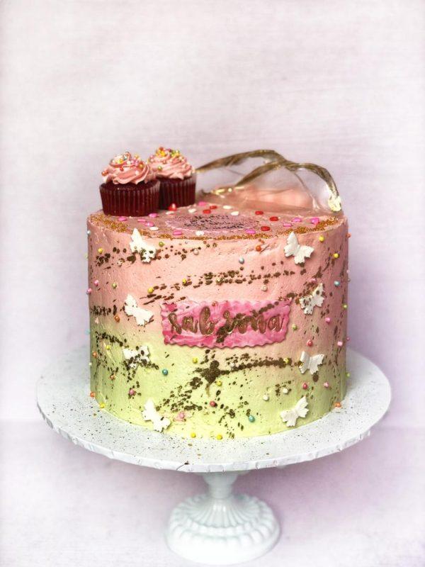 multi colur swiss meringue cake