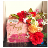 Pink and Flowery cake